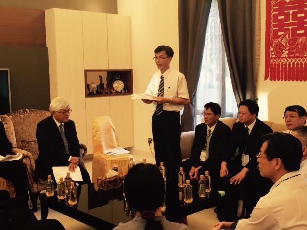 雲林縣政府參訪馬來西亞產業交流座談會 農業處長張世忠說明
