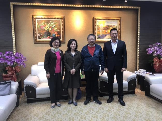 監察委員前往雲林縣議會拜會議長沈宗隆、副議長蘇俊豪
