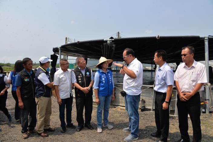 張縣長與各鄉鎮市首長參觀台灣鯛生態創意園區