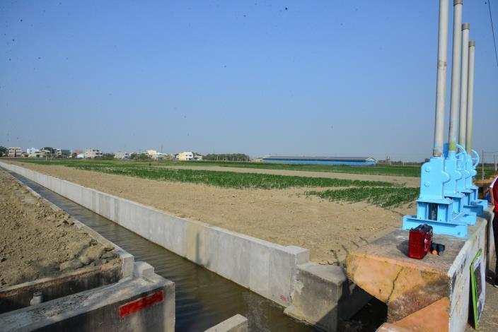 水埔社區的簡易抽水站原本採重力排水方式。