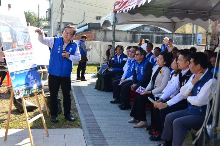 計畫處副處長蘇建蒼說明「雲西整體觀光發展計畫(臺西區規劃願景)」。