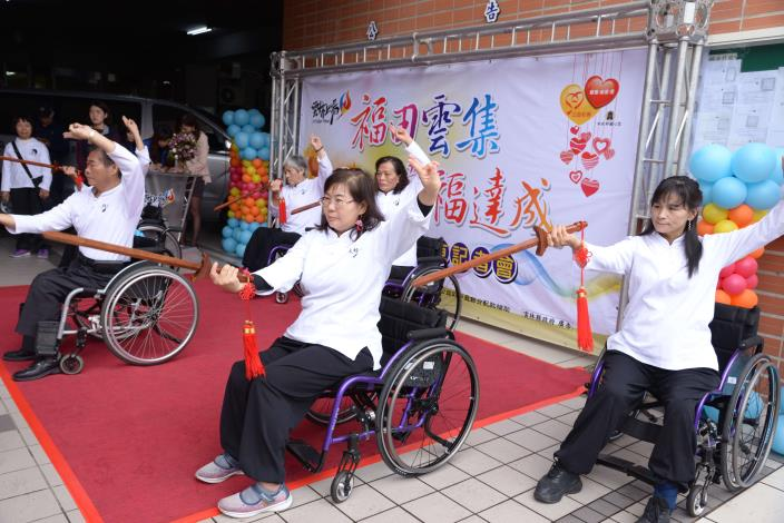 社團法人雲林縣虎尾身心障礙協會也帶來輪椅太極表演