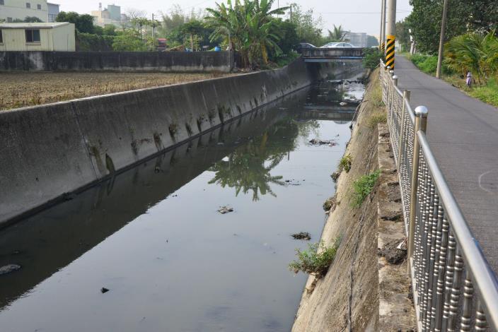 舊虎尾溪大排中興路段因地勢低窪、既有護岸高度不足,每逢豪大雨常淹水,影響居民生活及農作。