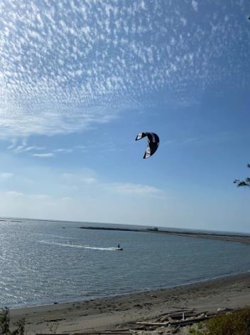 爭取國際風箏衝浪學校掛牌雲林  四湖三條崙海水浴場創生再發展1