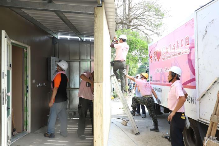 台灣心義工團協助雲林虎尾廖姓鄉親家屋重建。