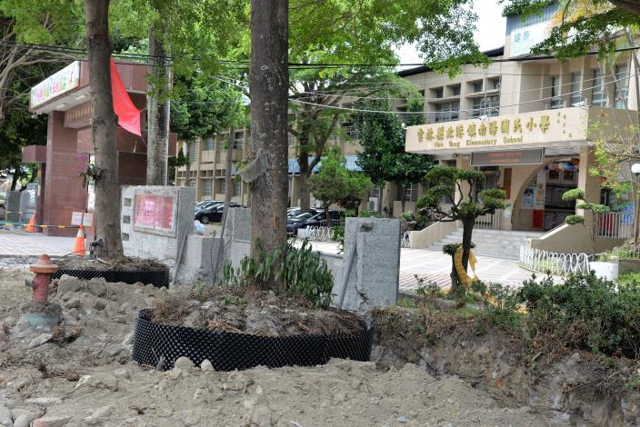 南陽國小通學廊道改善工程,工期180日曆天,預計今年9月完工