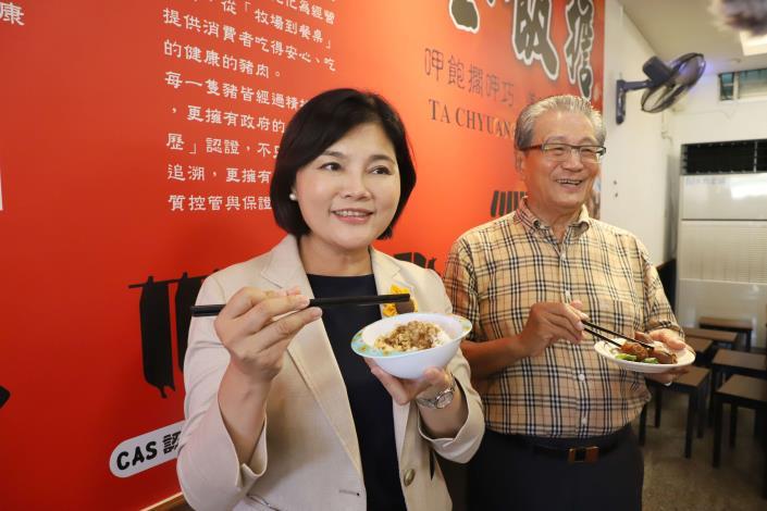 雲林生產的肉品品質極佳,張縣長鼓勵民眾多選購,吃出美味與健康。