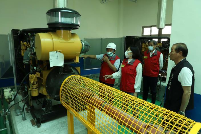 烏麻園中排抽水站,設置3台抽水機,抽水能量可達9cms(約每秒抽水9噸)。