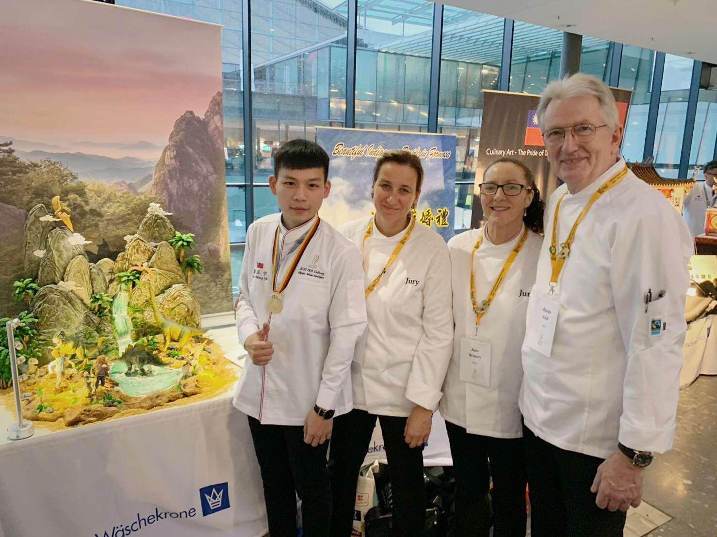雲林子弟廖正宇 勇奪德國奧林匹克廚藝大賽金牌(圖為廖同學提供)