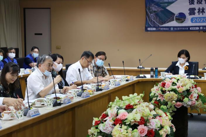 縣府今日邀請學者專家及產業界代表,共商後疫情時代雲林的機會與挑戰。