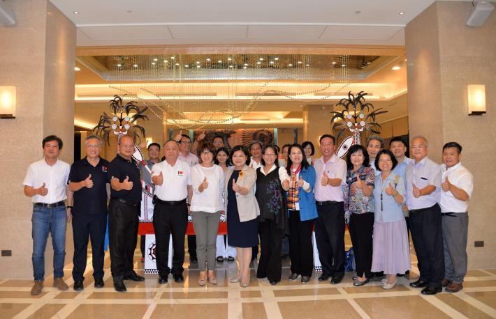 台東縣長饒慶鈴、台東雲林同鄉會理事長謝慶南等人也出席表示歡迎