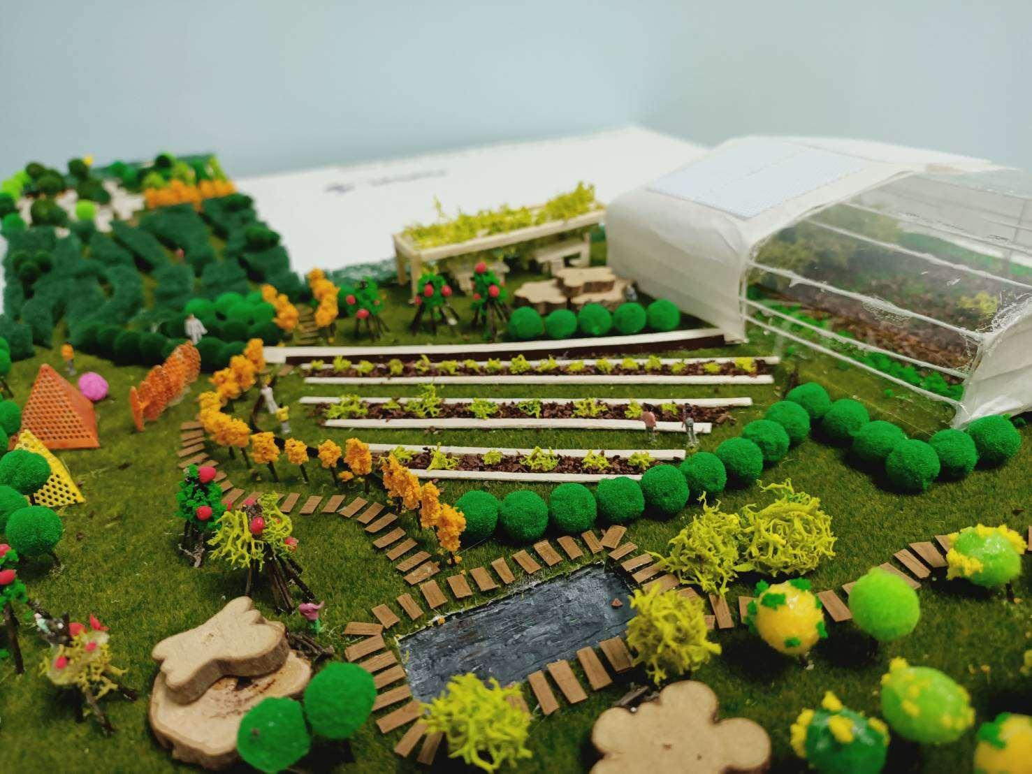 溫室景觀模型1