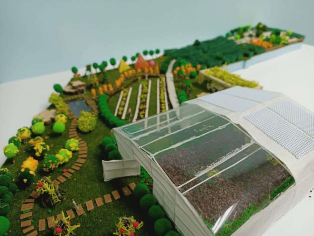 溫室景觀模型3