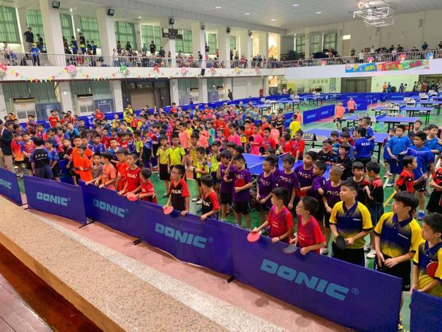 109年自由盃國小組個人桌球錦標賽開幕