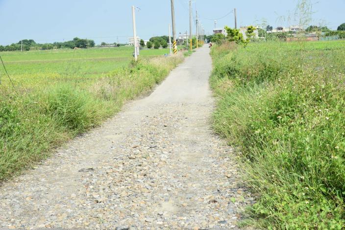 尖山農地重劃區農路六十四路面現況