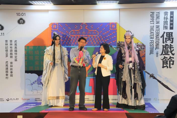 雲林縣長張麗善與台南市議員謝龍介的逗趣對話,讓現場笑聲不斷。.JPG