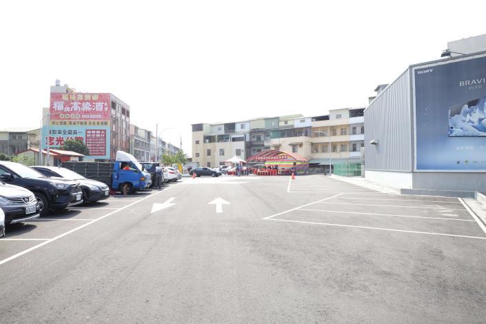 今日落成啟用的斗南鎮停四停車場,試營運期間開放民眾免費停車。