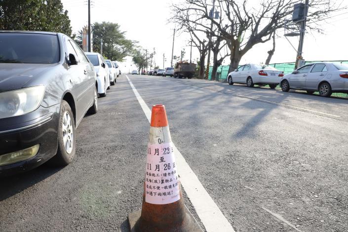 縣府針對雲71線等道路展開改善工程。