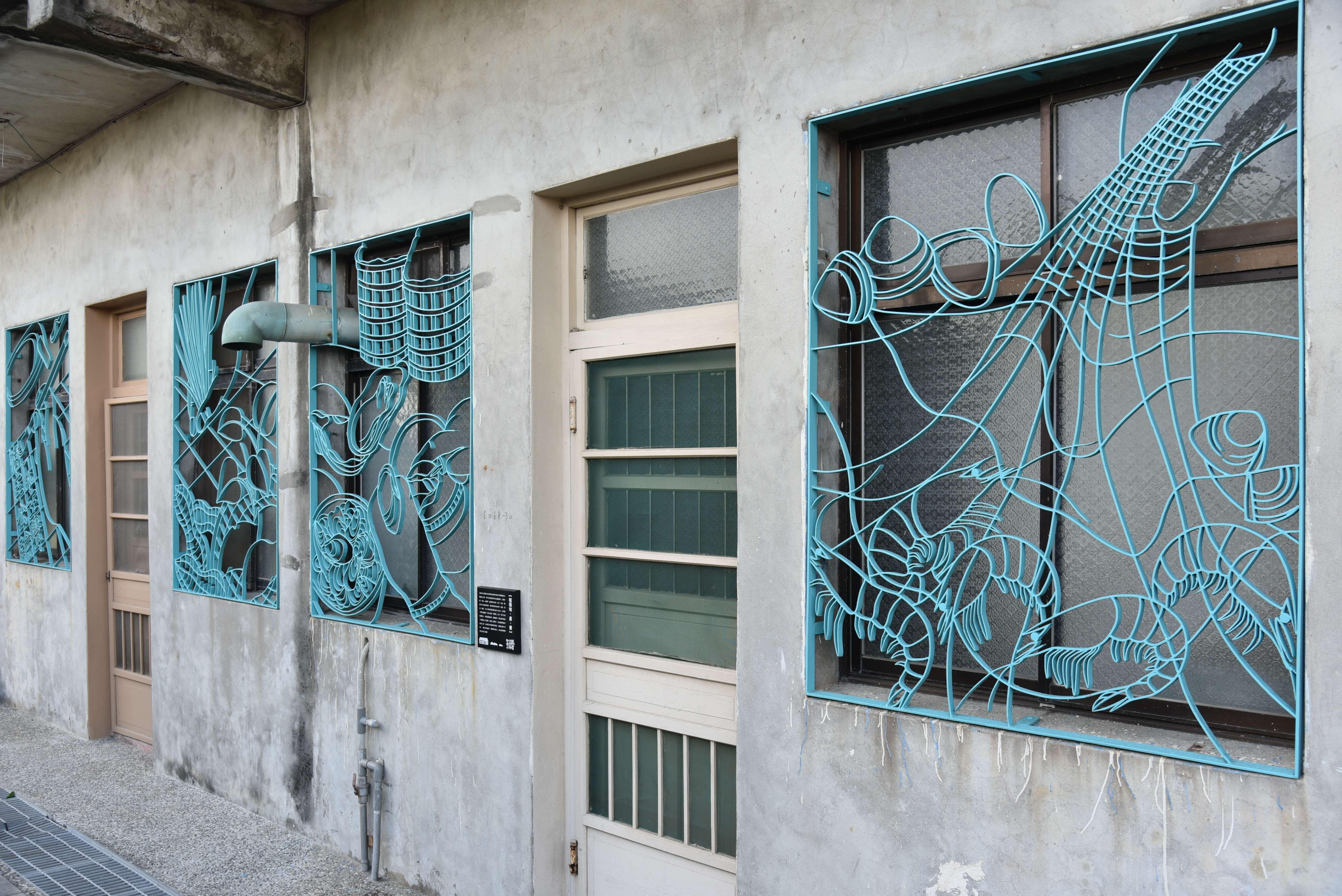 當地不同特色的家戶鐵花窗