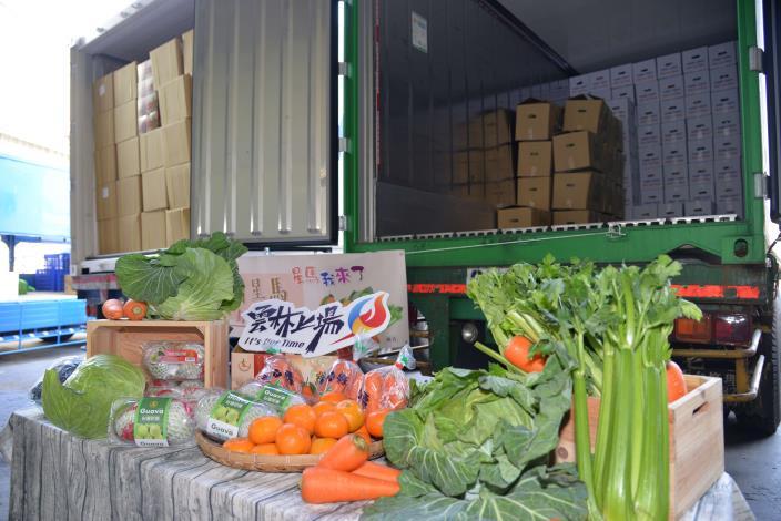 春節開春禮 雲林20公噸蔬果外銷星馬封櫃啟航 雲林茂谷柑首航馬來西亞