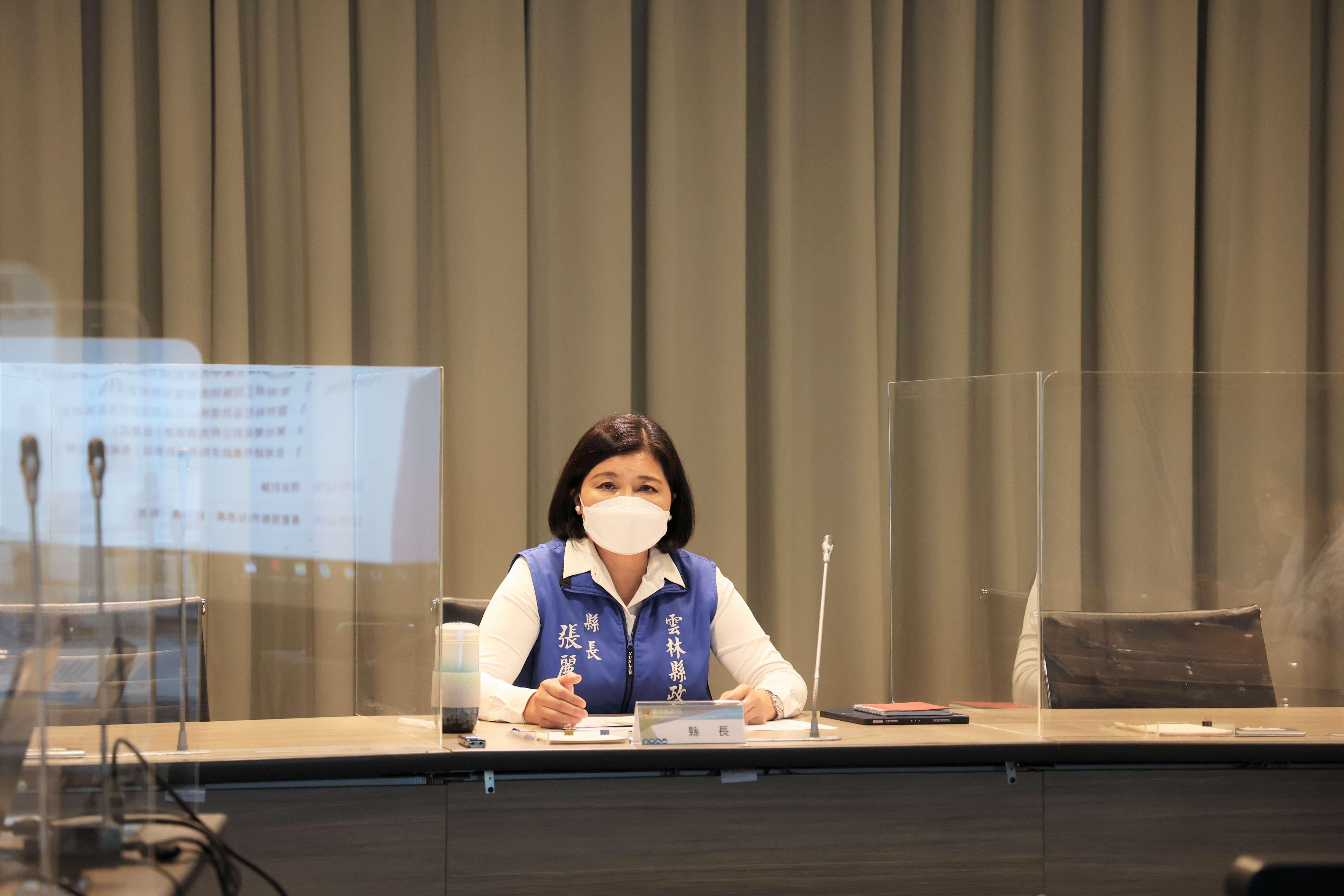 張麗善召開COVID-19疫情主管視訊會議 成立社區防疫網 打造社區防疫防護罩