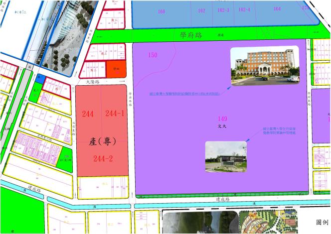 高速鐵路雲林車站特定區計畫(產業專用區)圖