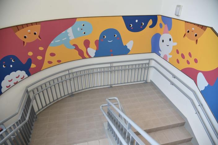 雲林縣綜合社會福利館加入童趣元素,創親子樂活空間