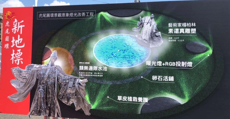 霹靂布袋戲「素還真」+藝術家楊柏林 打造虎尾圓環新地標!