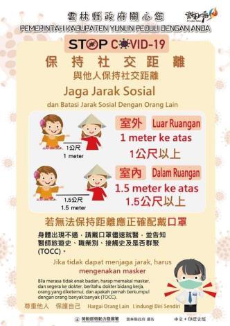 保持社交距離-印尼版