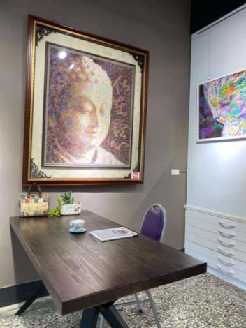 秀惠拼布工房的作品展示空間一偶