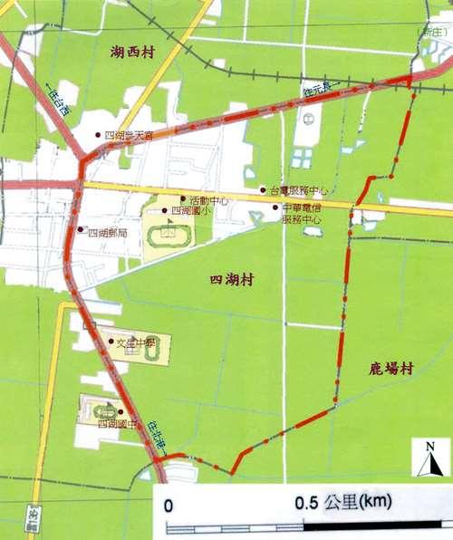四湖村地圖