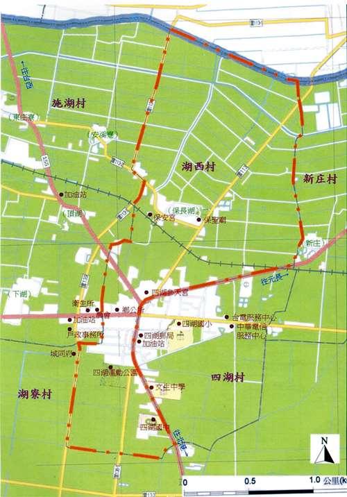 湖西村地圖