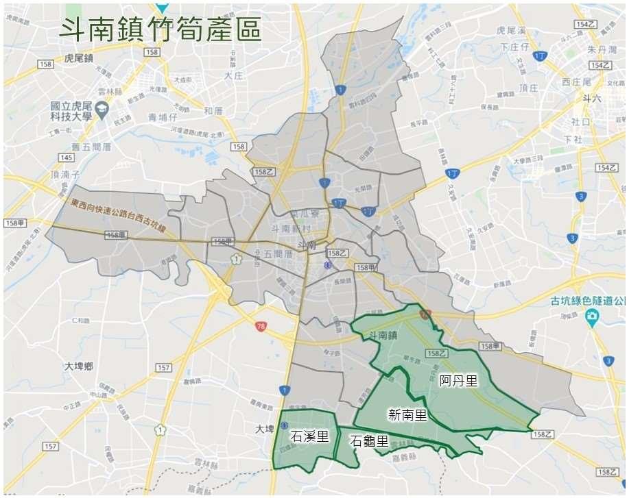 竹筍產區圖