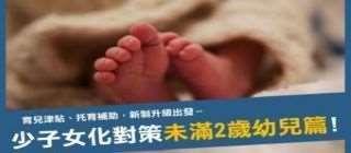 少子女化對策未滿2歲幼兒篇