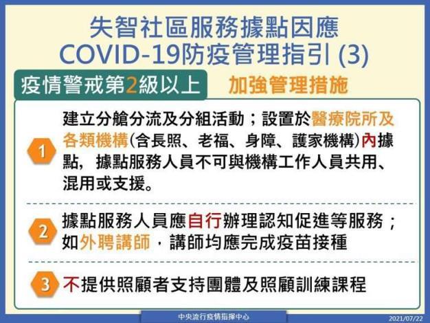 失智社區服務據點因應COVID-19防疫管理指引(3)