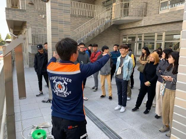 雲林縣消防局第一大隊辦理雲林科技大學大型演練活動-宣導過程
