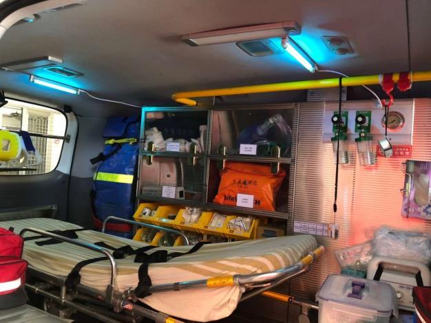救護車內紫外線殺菌消毒燈