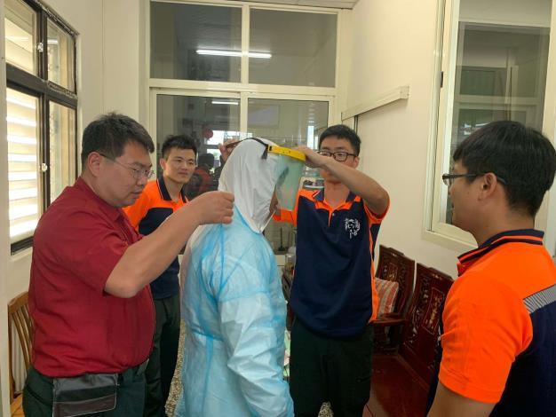 雲林縣消防局第二大隊褒忠分隊辦理全情境救護技術訓練-訓練過程