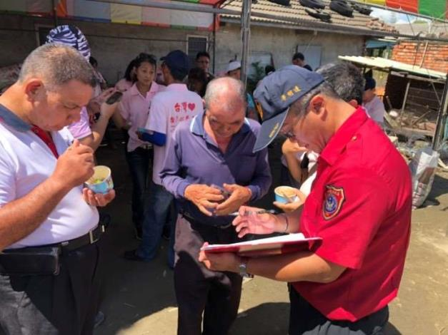 雲林縣消防局第二大隊虎尾分隊火災受災戶安裝住宅用火災警報器-安裝過程