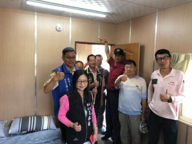 雲林縣消防局第二大隊虎尾分隊火災受災戶安裝住宅用火災警報器-合照