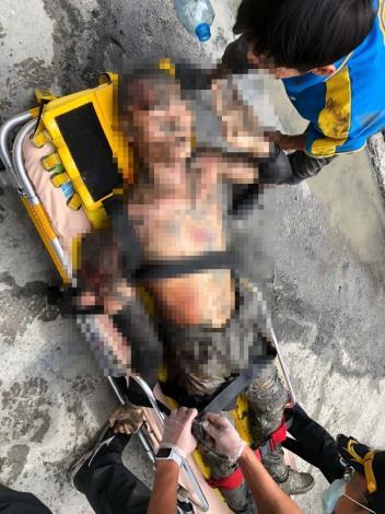 雲林縣消防局第三大隊麥寮分隊創傷救護案-搶救病患