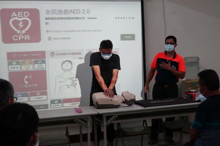雲林縣消防局第二大隊二崙分隊辦理義消救護訓練宣導-訓練過程