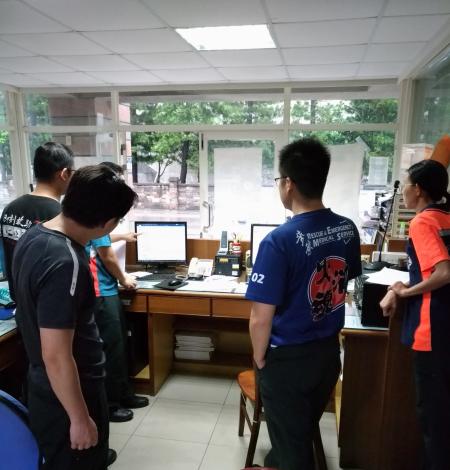 雲林縣消防局第三大隊台西分隊辦理燒燙傷救護訓練