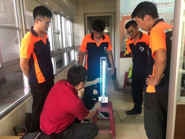 雲林縣消防局第二大隊西螺分隊辦理紫外線殺菌燈教育訓練
