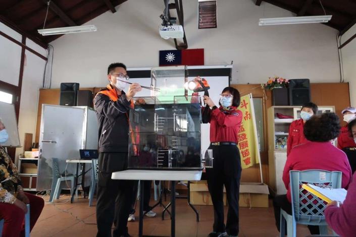 雲林縣消防局第一大隊斗南分隊辦理110年度防火宣導週活動-住宅用火災警報器