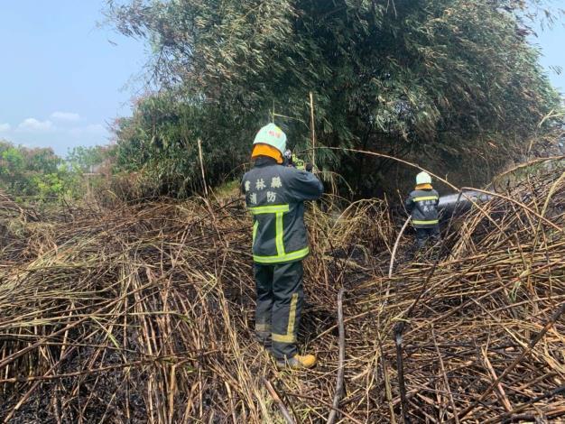 雲林縣消防局第一大隊斗南分隊執行雜草廢棄物火警注意事項