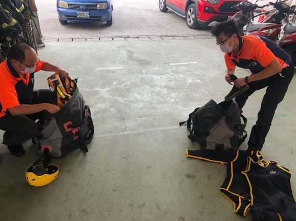 雲林縣消防局第一大隊斗南分隊辦理救災整備暨易淹水區域巡邏