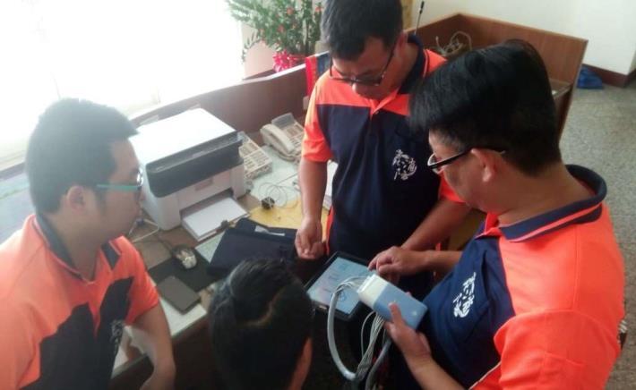 雲林縣消防局第二大隊二崙分隊辦理EKG十二導程心電圖訓練-訓練過程