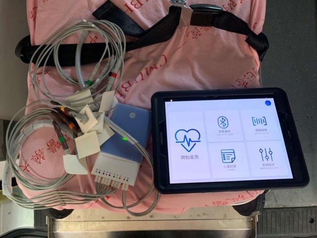 雲林縣消防局第三大隊北港分隊執行胸悶胸痛急病救護-機器顯示畫面
