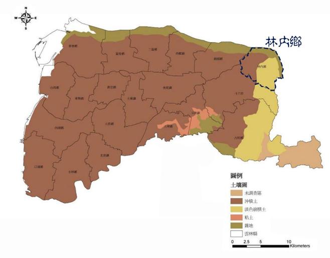 雲林縣地質圖